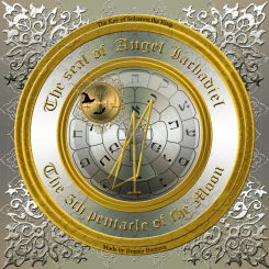The seal of Angel Iachadiel/5th pentacle of the Moon