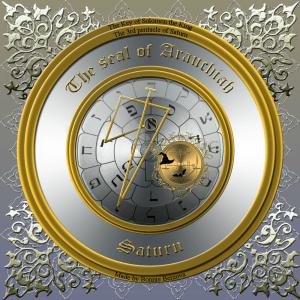This is the seal of Arauchiah/3rd pentacle of Saturn.