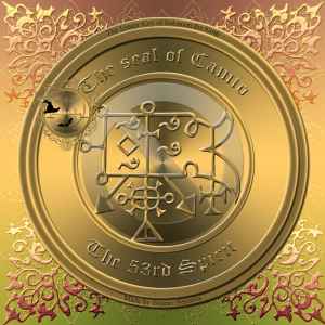 Demon Camio is described in the Goetia and this is his seal.
