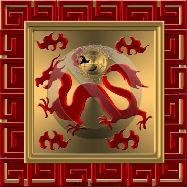 Chinese Red Dragon/ Home decor