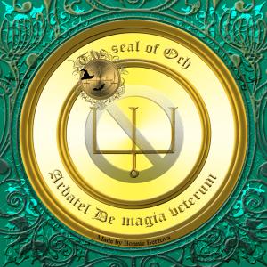 Олимпийский дух Ох описан в Arbatel De magia veterum, и это его печать.