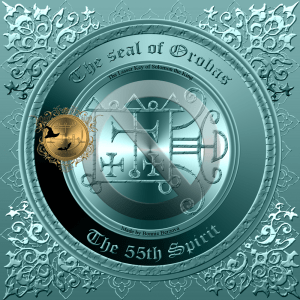 Demon Orobas is described in the Goetia and this is his seal.