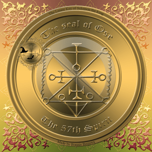 Demon Ose is described in the Goetia and this is his seal.