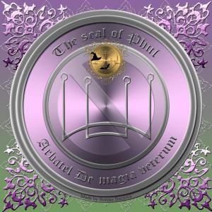 Der olympische Geist Phul ist im Arbatel De magia veterum beschrieben und dies ist sein Siegel.