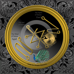The planetary talisman of Saturn