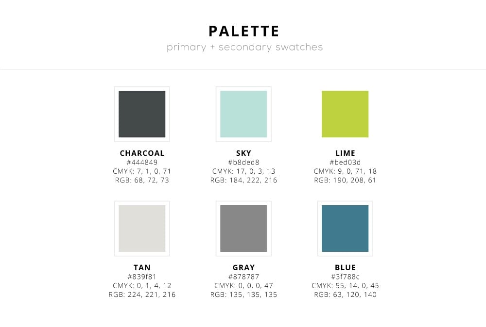 Color Palette for pitch deck