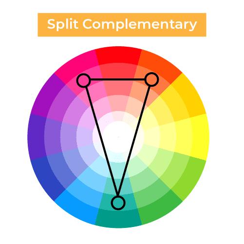 Split Complementary scheme colors