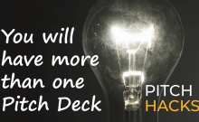 Have more than one pitch deck