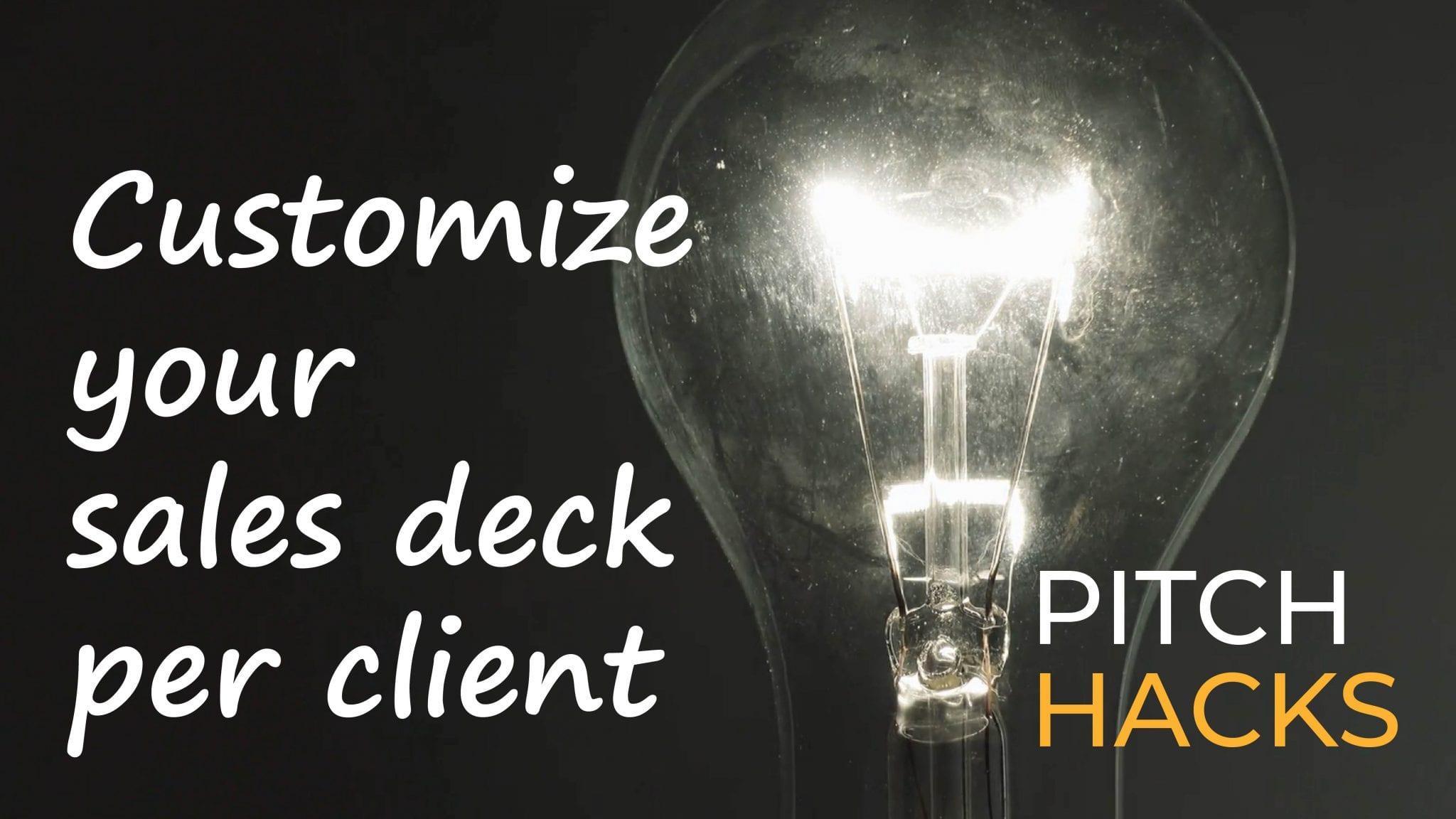 How to Customize Sales Decks
