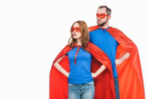 superman pitch pose.