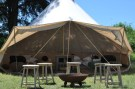 Open up your tent for more breeze