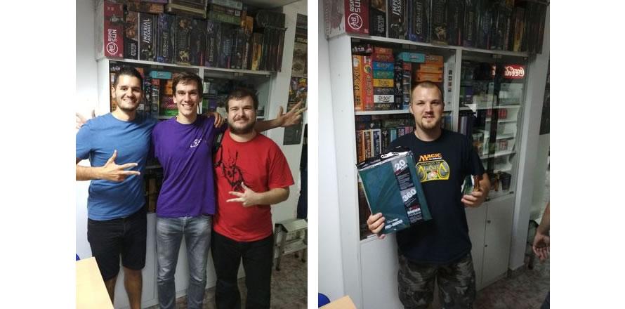 MTG Reprezentacija (s leva): Aleksa Telarov, Dragan Tančić i David Guteša. Pobednik Modern turnira: Ivan Kleiner (FOTO: Javorko Petričević)