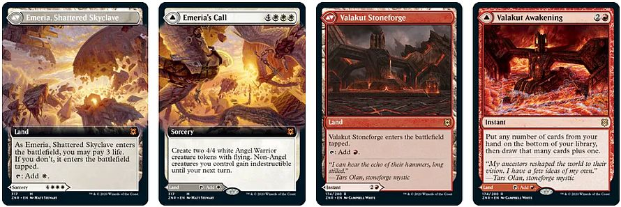 Double-Sided Modal Lands