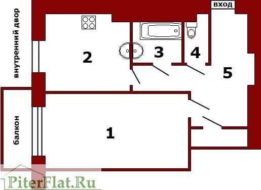 Снять квартиру в Питере на сутки: Лиговский 109