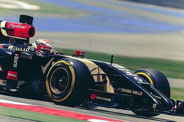 Pastor Maldonado - Lotus - Test invernales 2014