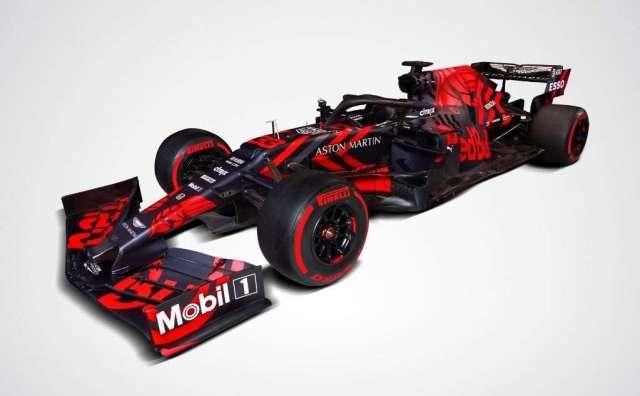 RB15, render del monoplaza del Red Bull del 2019.