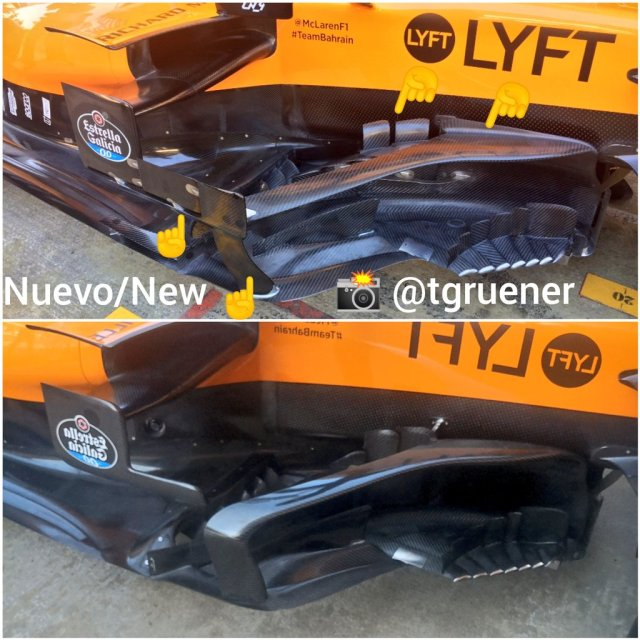 Comparativa bargeboard McLaren