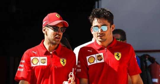 Vettel con Leclerc
