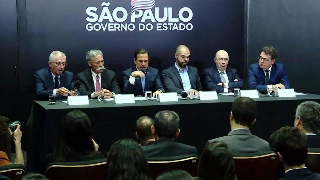 Reunión con la prensa del Gobernador de Sao Paulo