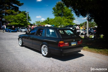 Rare E34 M5 Touring, Jazz Blue JTI, And Bagged Mustang Draw Attention At Raceseng