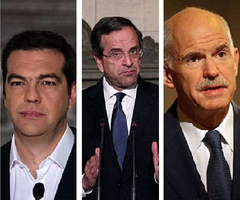 tsipras samaras papandreou
