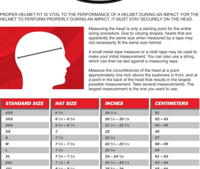 Compare That Measurement With The Handybelow To Determine The Correct Sizing For Your New Bell Auto Racing Helmet