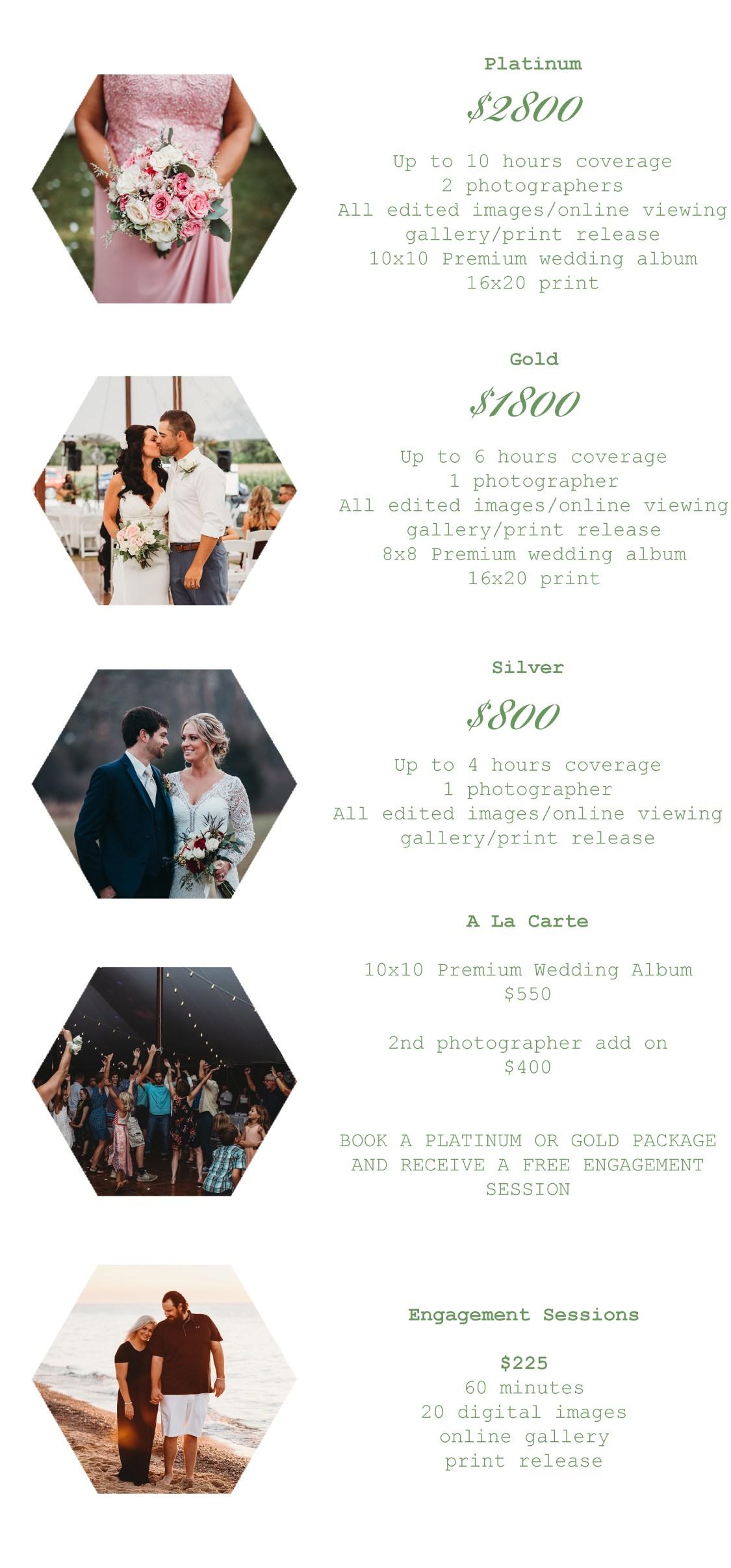 WEDDING PRICE SHEET 2019