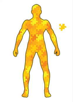puzzle man_white background