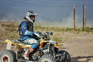 Josh coming through the pits at Vegas to Reno, August 2012.