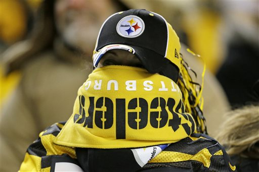 Steelers Fan in the Cold