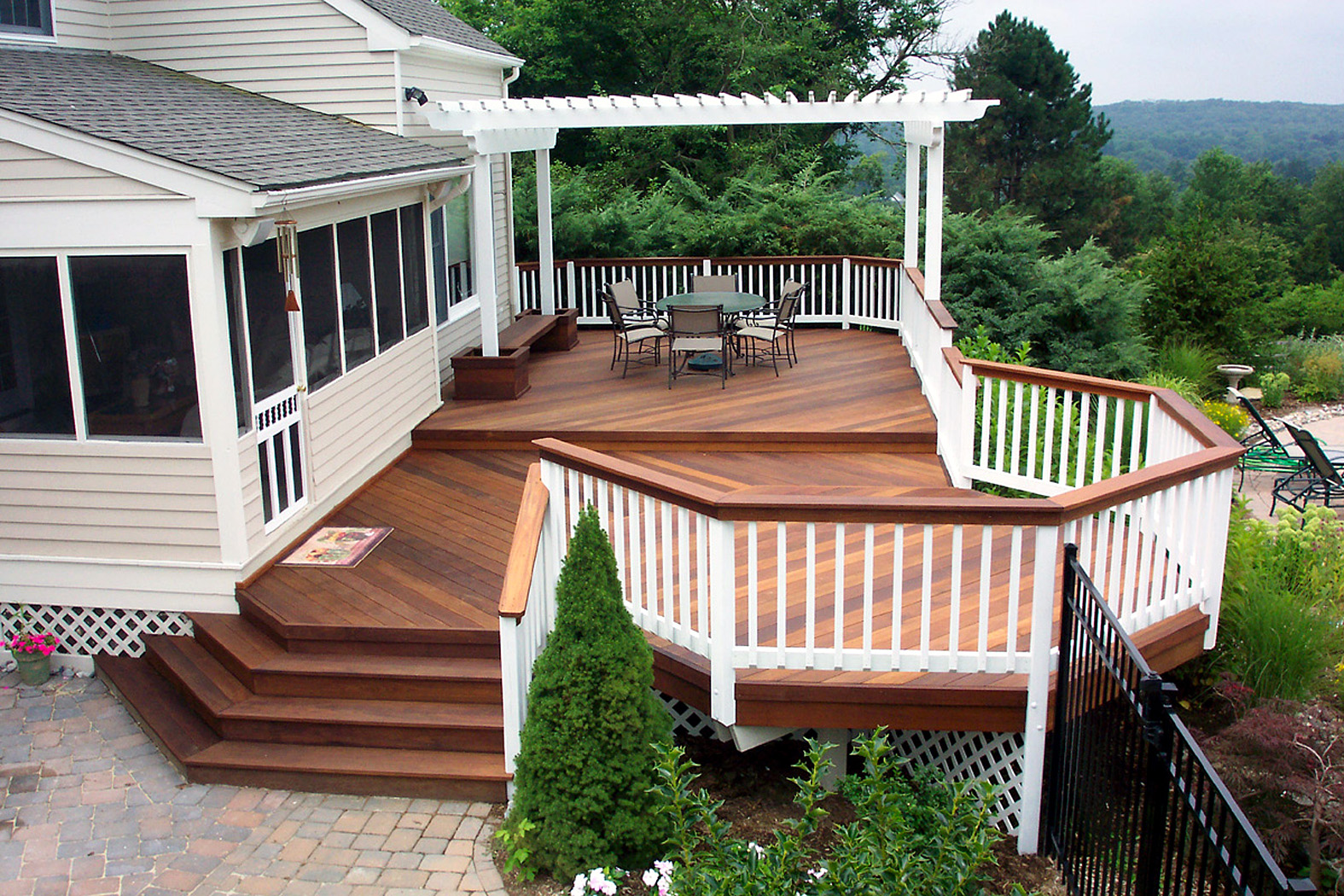 Archadeck Custom decks and patio rooms in Pittsburgh ... on Low Cost Backyard Patio Ideas id=67297