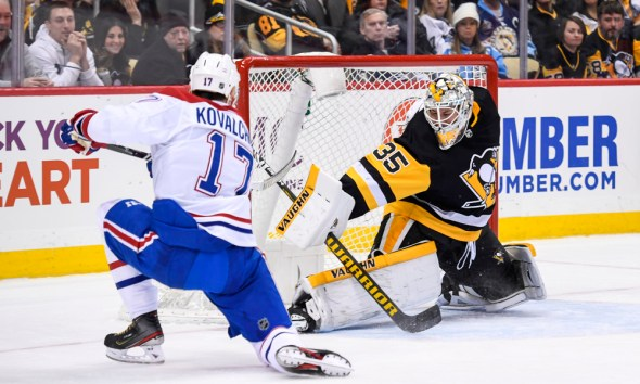 Pittsburgh Penguins Tristan Jarry Montreal Canadiens Ilya Kovalchuk