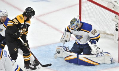 Jordan Binnington Makes a Save in Game 7