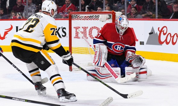 NHL Return Pittsburgh Penguins Patric Hornqvist Carey Price