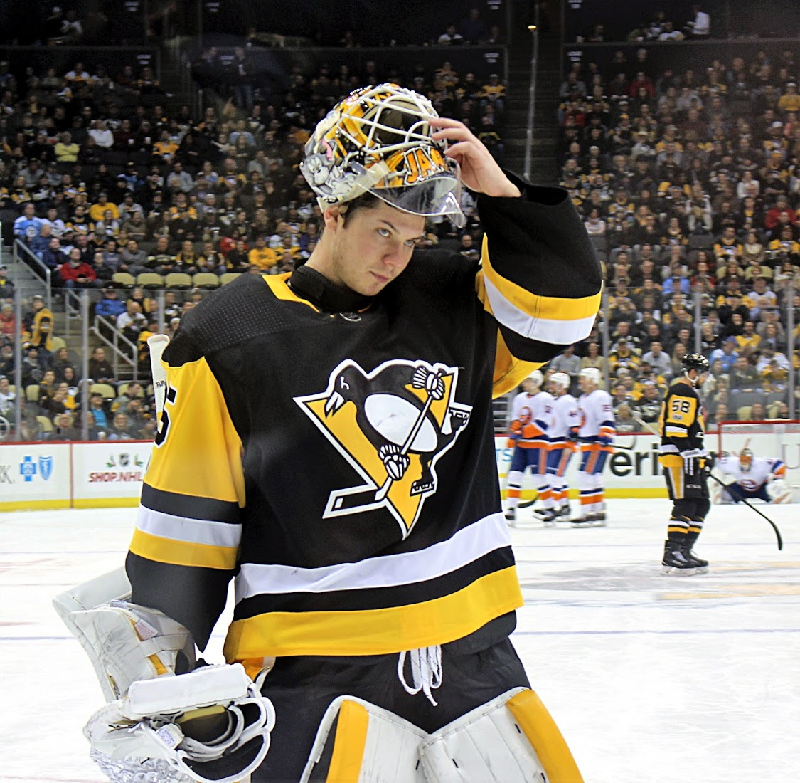 Jarry definition, french poet and playwright. Penguins Locker Room: Will Tristan Jarry Shoot for NHL ...