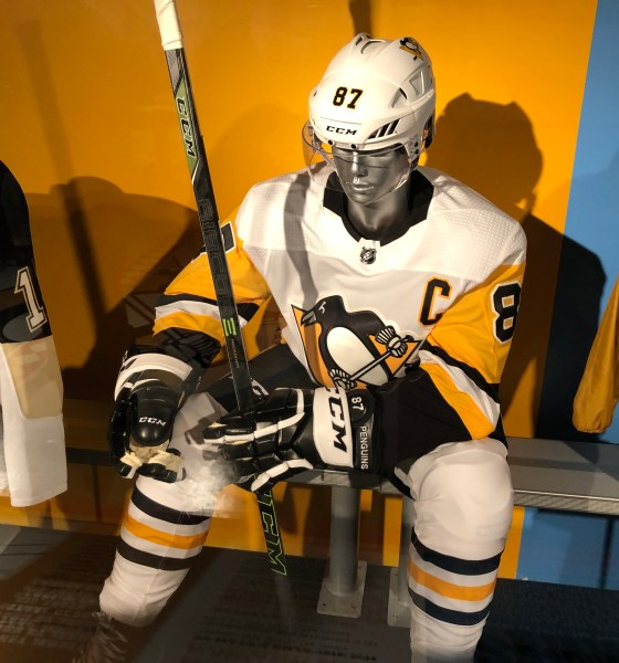 Sidney Crosby Pittsburgh Penguins Uniform Heinz History Center