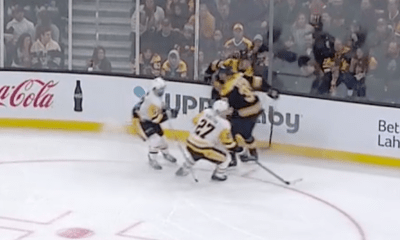 Kris Letang Injured after collision with Zdeno Chara