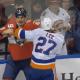 Pittsburgh Penguins, Brian Boyle fights New York Islanders Anders Lee