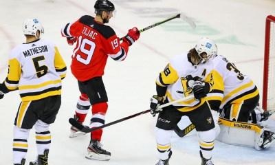 Pittsburgh Penguins New Jersey Devils Travis Zajac