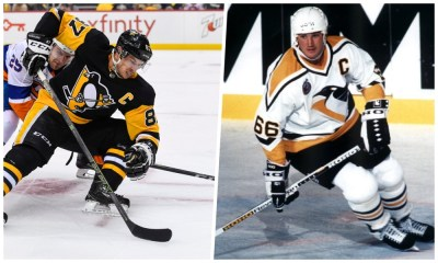 Pittsburgh Penguins All-Time Team Sidney Crosby and Mario Lemieux