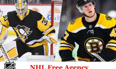Pittsburgh Penguins, NHL free agent, Matt Murray, Torey Krug