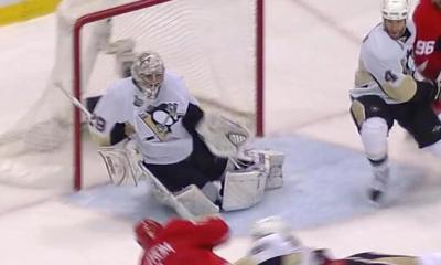 Marc-Andre Fleury Stops Nicklas Lidstrom Pittsburgh Penguins
