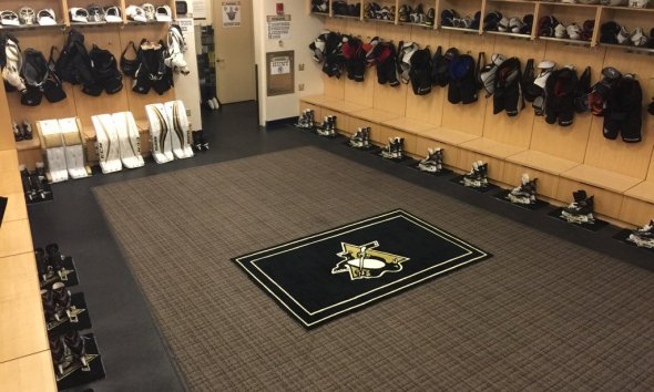 Pittsburgh Penguins NHL hub locker room