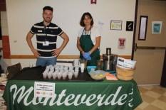 Monteverde's Produce Company samples fresh squeezed apple lemonade at CAPA high school