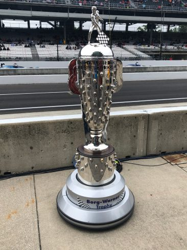 The iconic Borg Warner trophy features the image of the winners of the Indianapolis 500. Winners and team owners receive a 'Baby Borg' to commemorate the victory.