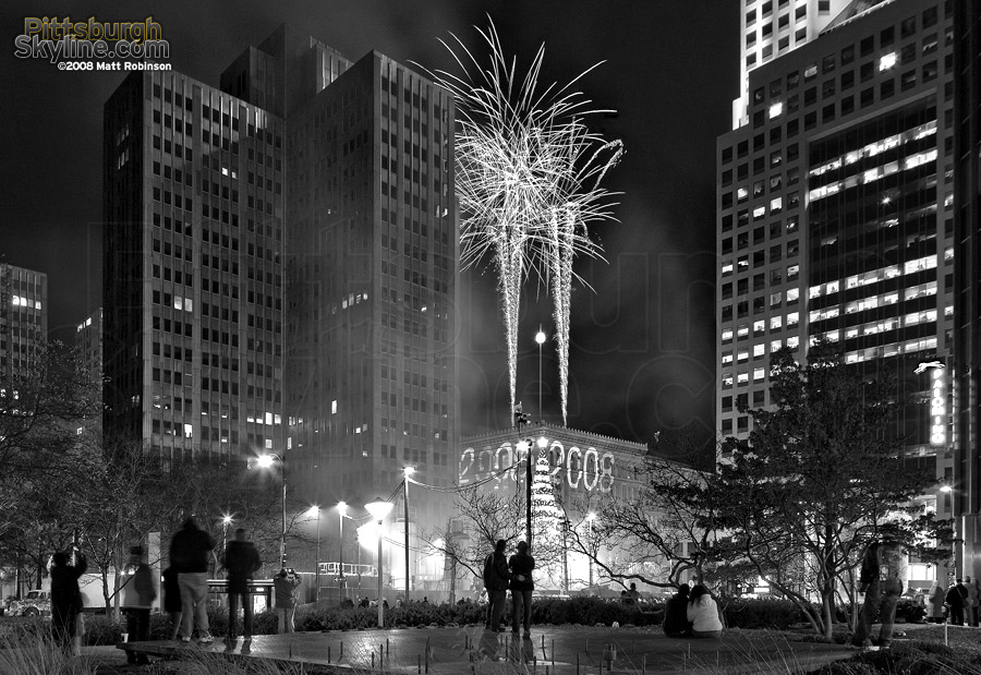 Fireworks ring in the New Year