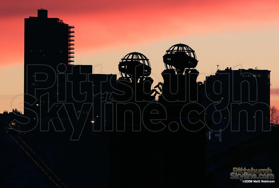 Silhouette of Trimont, Sixteenth Street Bridge
