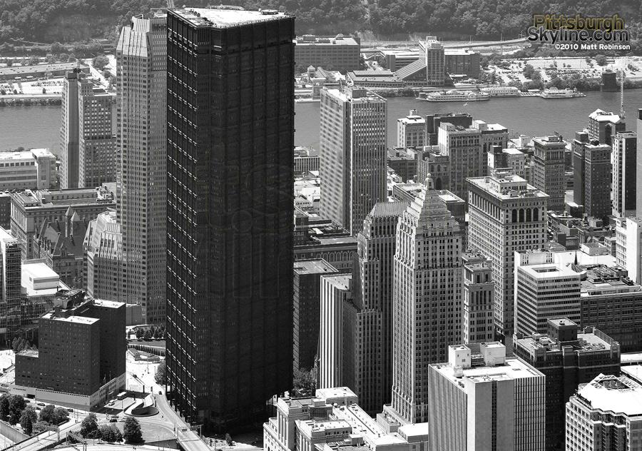 Aerial of US Steel Building, Pittsburgh