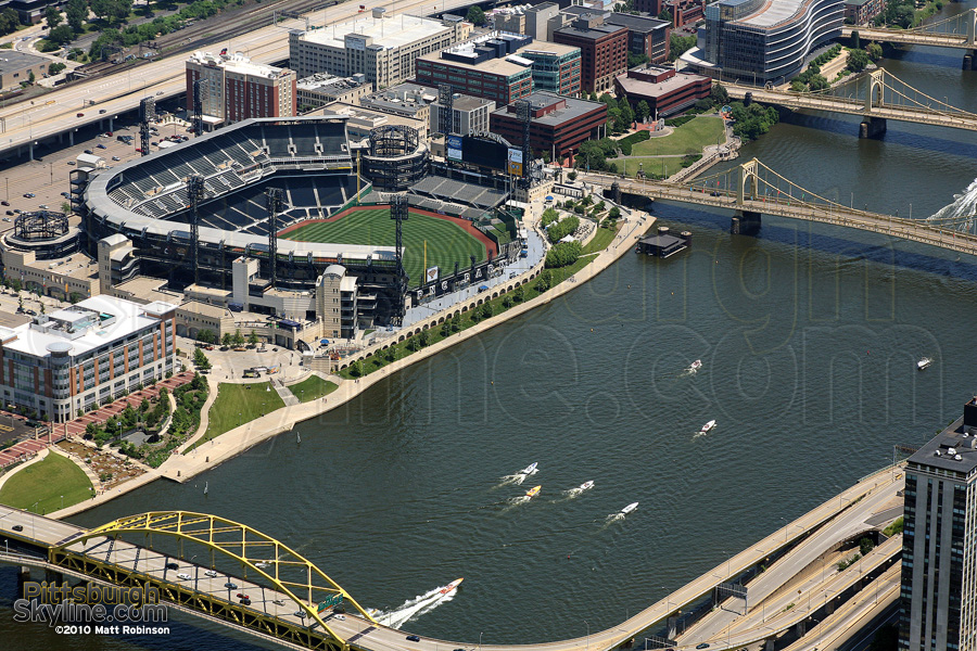Aerial of PNC Park