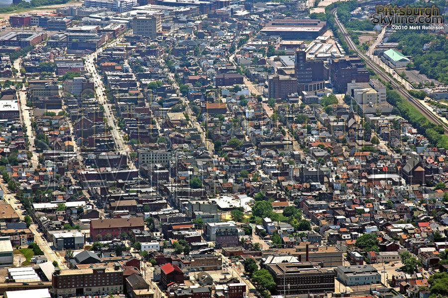 Carson street aerial, Pittsburgh